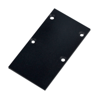 END CAP FOR MAGNETIC TRACK RAIL SURFACE MOUNT